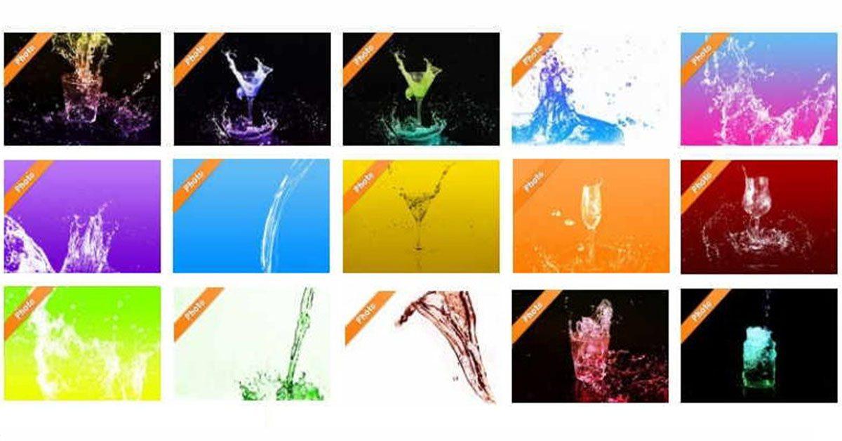 【水滴素材】Water-Sozai 水滴素材 | 水滴圖案