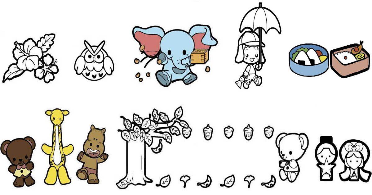 【兒童素材】Hoiku navi 可愛兒童素材 | 幼兒著色畫