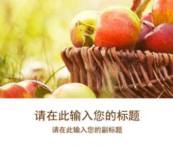 完善的水果展示powerpoint模板下載,共有31張的水果主題簡報推薦主題