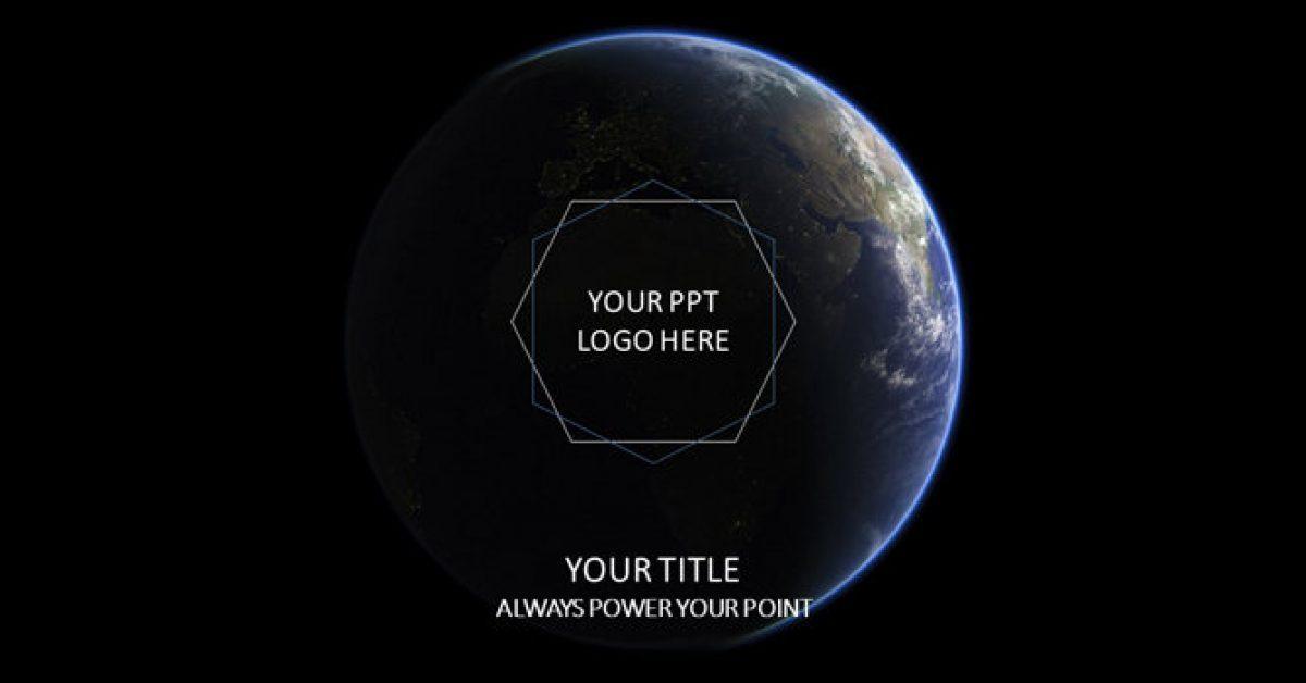 完整的地球powerpoint模板下載,共有22張的星球背景簡報最佳推薦