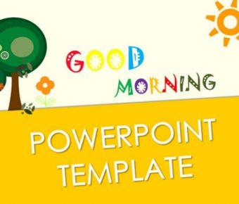 完美的兒童畫powerpoint模板下載,共有7張的卡通背景範本推薦模板
