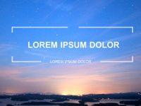 齊全的夕陽風景powerpoint模板下載,共有27張的自然風景推薦模板