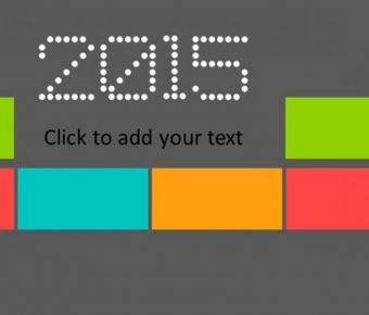 很棒的豐富色彩powerpoint模板下載,共有23張的色塊分類簡報模板樣式