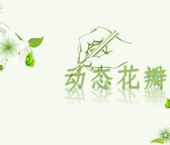 完整的淡雅動態powerpoint模板下載,共有5張的植物模板免費推薦