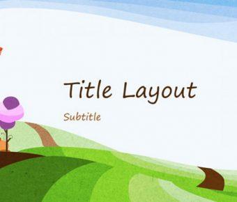 高品質的自然風格powerpoint模板下載,共有12張的插畫背景範本推薦範例