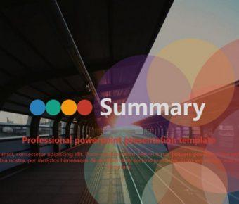 極致的時尚配色powerpoint模板下載,共有33張的商務會議範本免費推薦