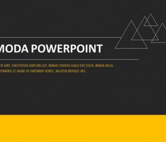很棒的歐美分析powerpoint模板下載,共有19張的黑黃配色簡報免費下載