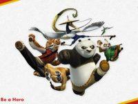 精品的功夫熊貓powerpoint模板下載,共有16張的影視音樂推薦模板