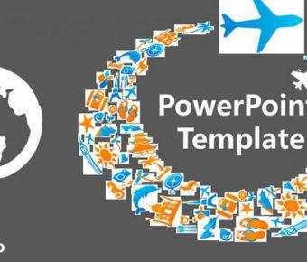 極致的旅遊業powerpoint模板下載,共有13張的旅遊旅行推薦樣式