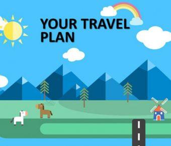 精美的旅遊行程powerpoint模板下載,共有4張的旅遊旅行推薦範例