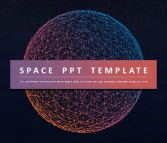 齊全的星球背景powerpoint模板下載,共有30張的科技宇宙簡報模版推薦