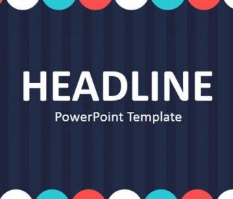 高質感的活潑色彩powerpoint模板下載,共有13張的舞台背景簡報免費套用