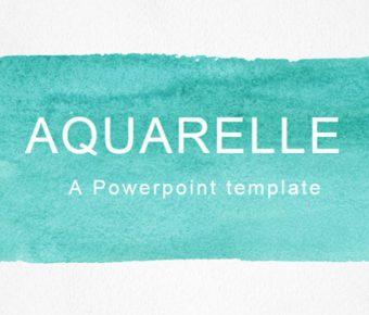 卓越的水彩風powerpoint模板下載,共有35張的歐美墨彩簡報模版推薦