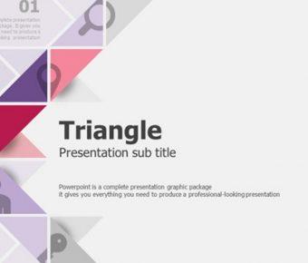 完善的三角元素powerpoint模板下載,共有20張的藝術抽象免費下載