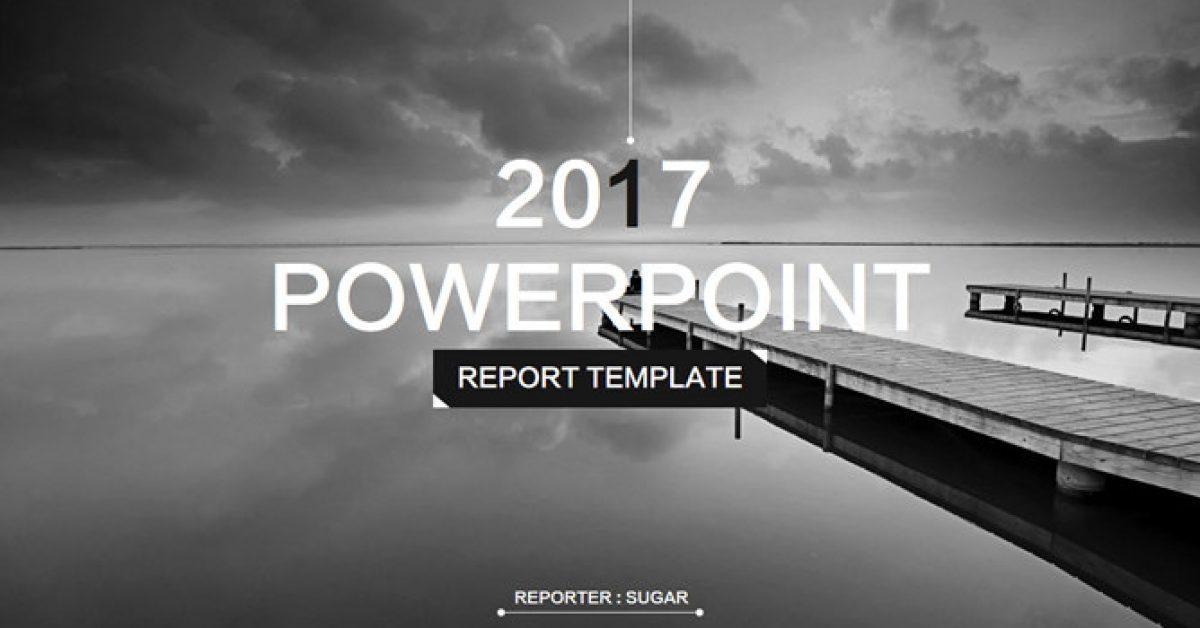 高質感的個人風格powerpoint模板下載,共有28張的素雅簡約範本免費推薦