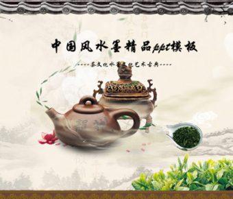 精品的茶壺背景powerpoint模板下載,共有22張的中國風推薦模板