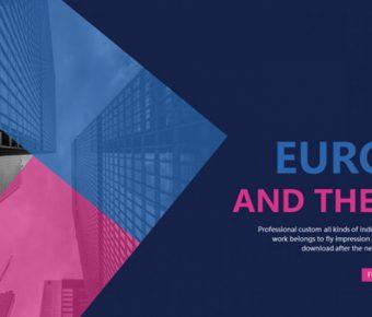創作感的歐美藝術powerpoint模板下載,共有21張的精美模板免費套用