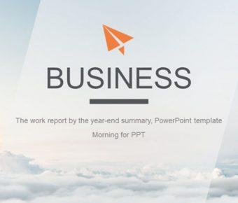 精美的雲端背景powerpoint模板下載,共有26張的雲海主題範本模板樣式
