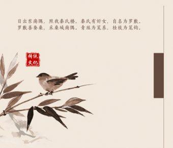 華麗的傳統文化powerpoint模板下載,共有21張的中國風免費套用